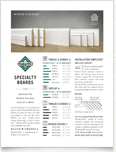 WindsorONE - 1 sheet on traditional specialty boards