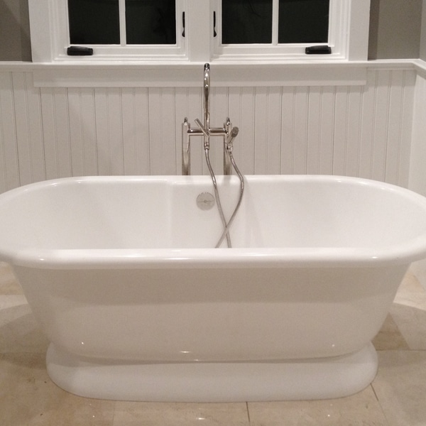 Tub Surrounded By Beadboard Wainscoting Windsorone