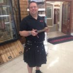 Mike Tower of Riverhead Rocking the Kilt!