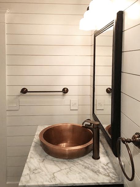Shiplap Amp Copper In The Bathroom Windsorone