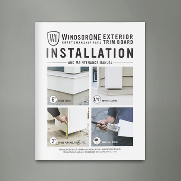 Installation Instructions And Maintenance For Products Windsorone