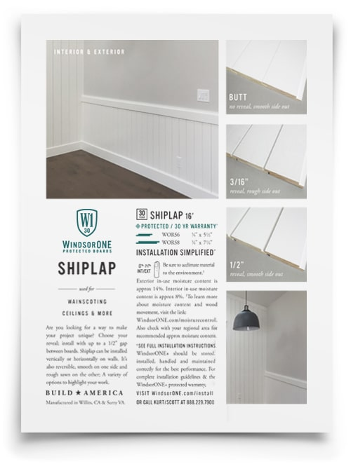 WindsorONE - shiplap