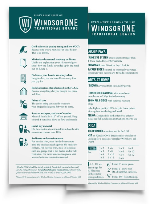 WindsorONE - F&B S4SSE Traditional