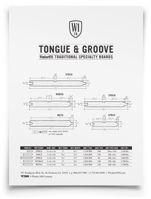 Tongue Amp Groove Traditional Wood Boards Windsorone
