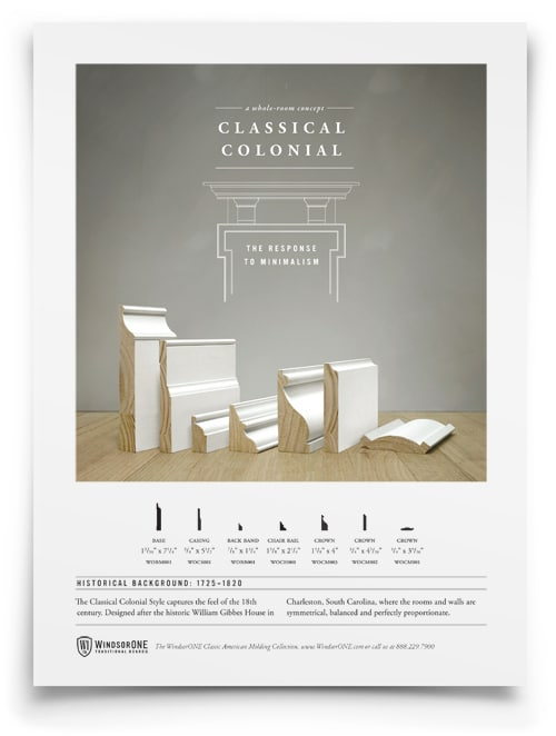 WindsorONE - 1 sheet on Classical Colonial Moldings