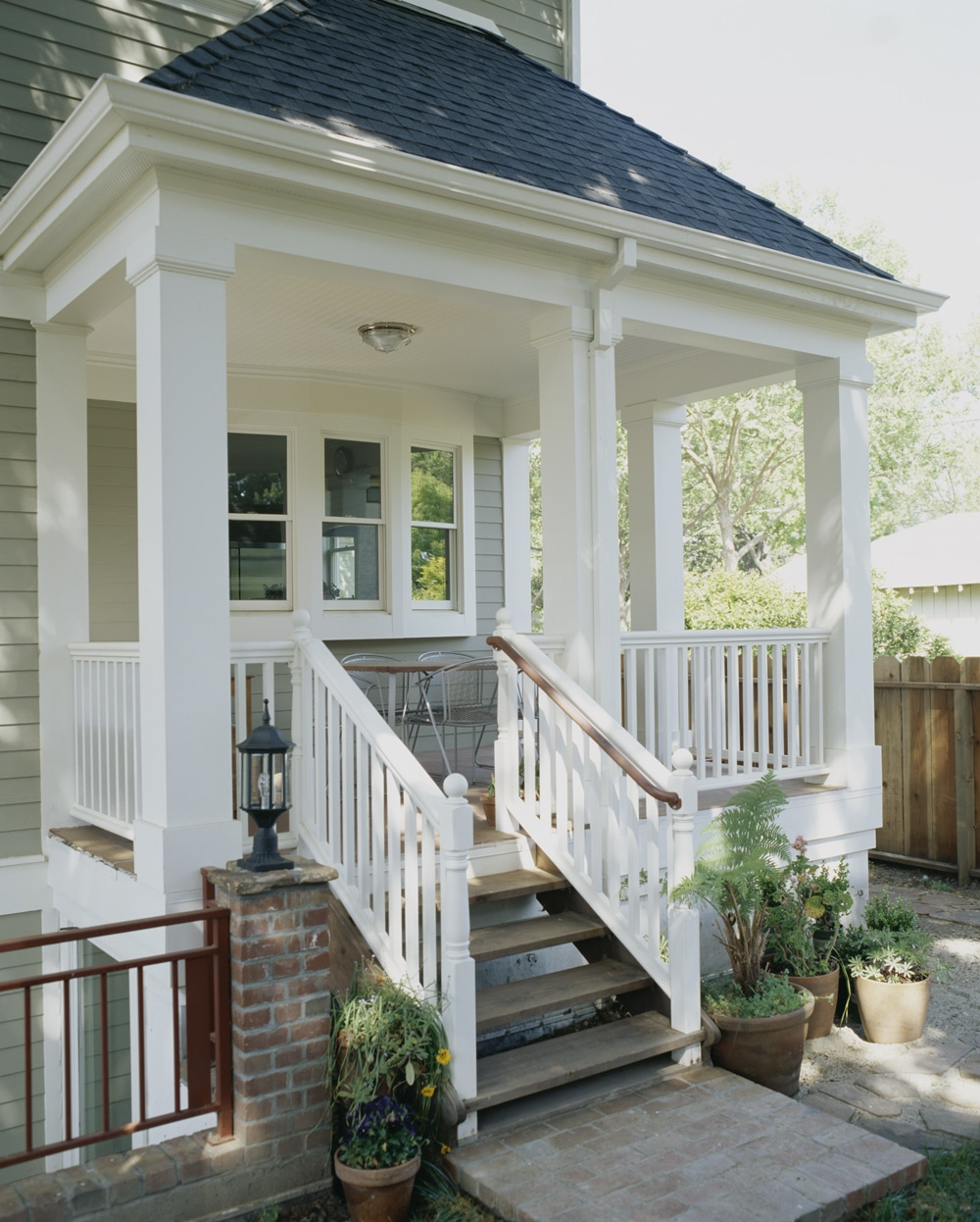 Trimmed out porch with column wraps windsorone for Wrap around porch columns
