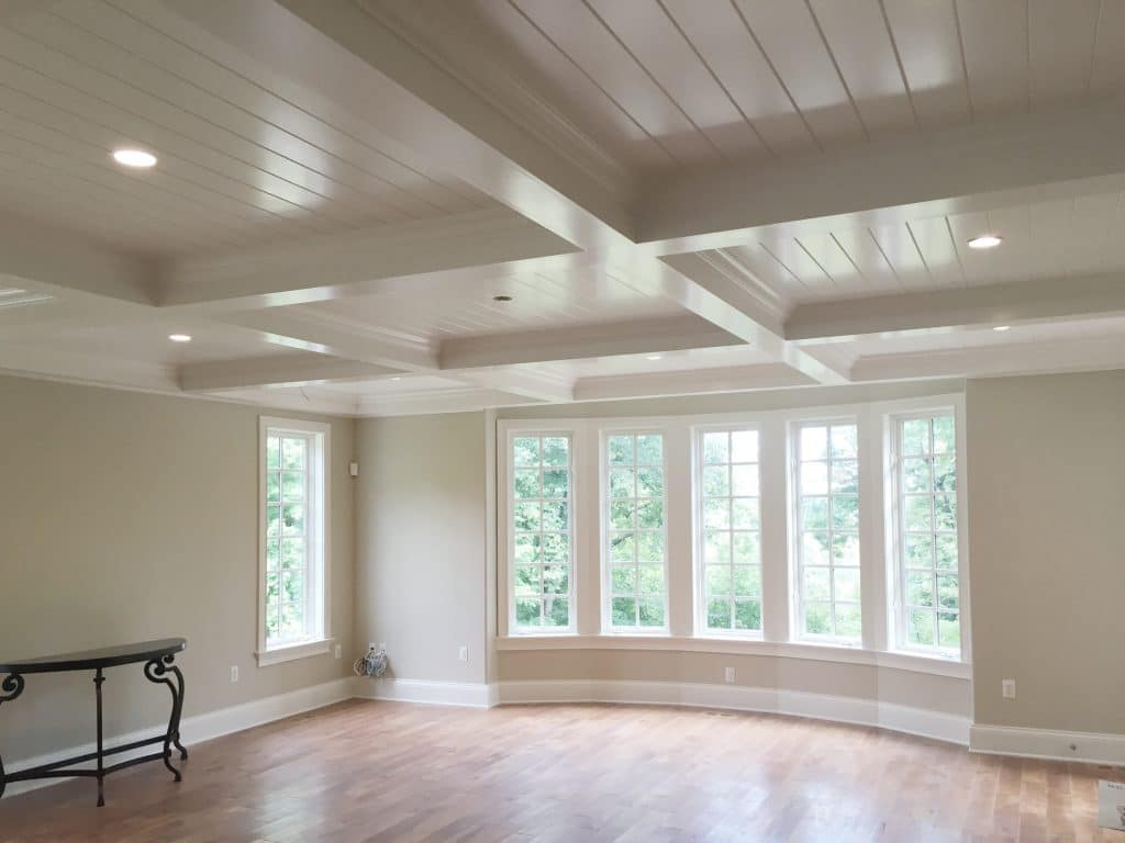 Coffered Ceiling With V Groove Windsorone