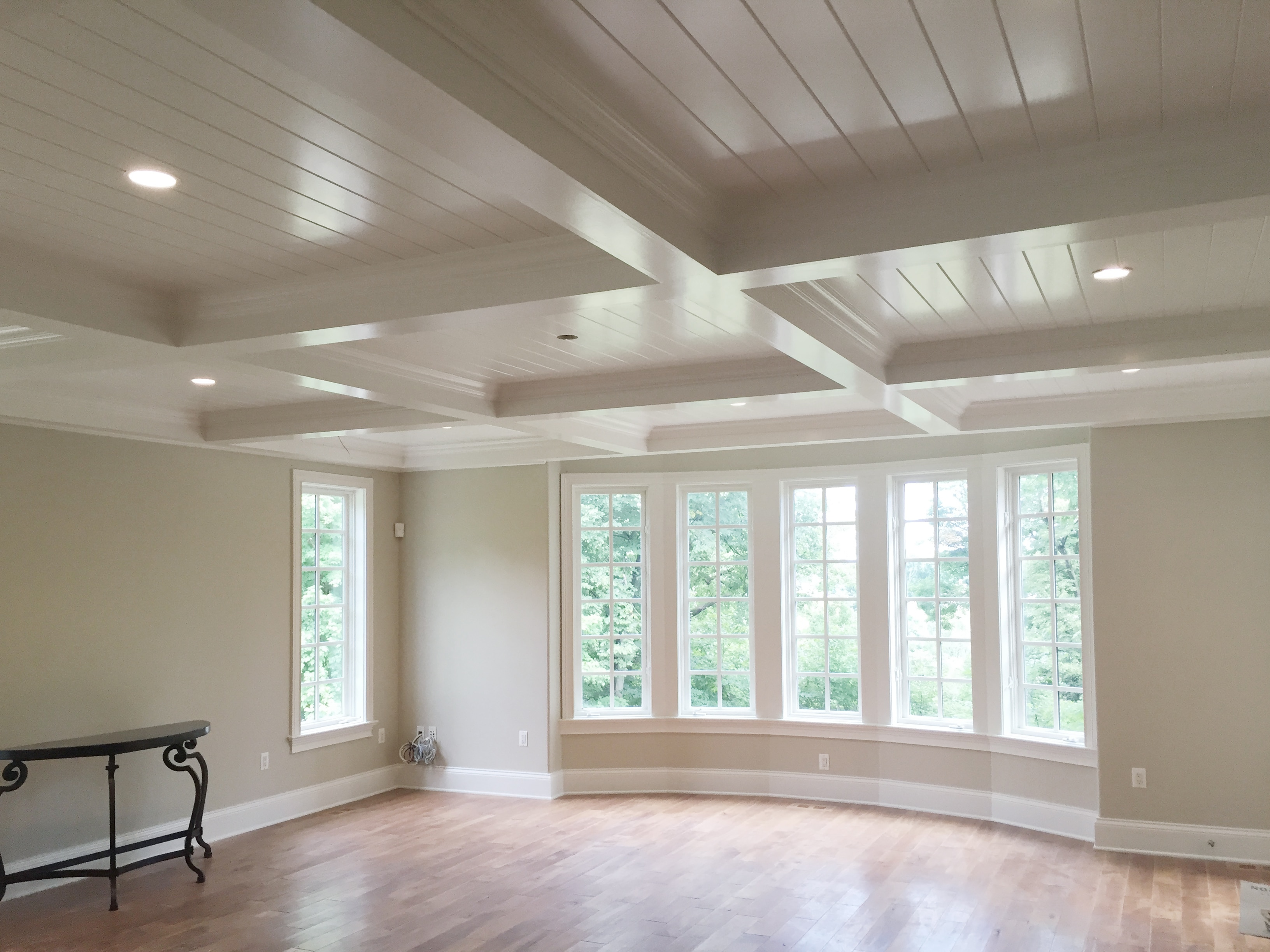 Coffered Ceiling With V Groove Design Inspirations