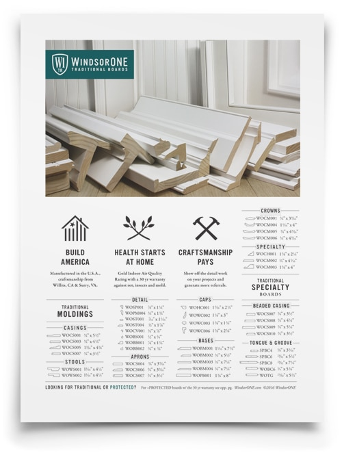 WindsorONE - 1 page catalog