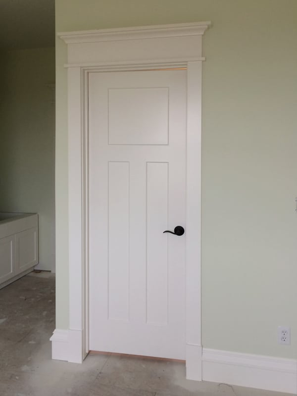 Craftsman Style Door Casing