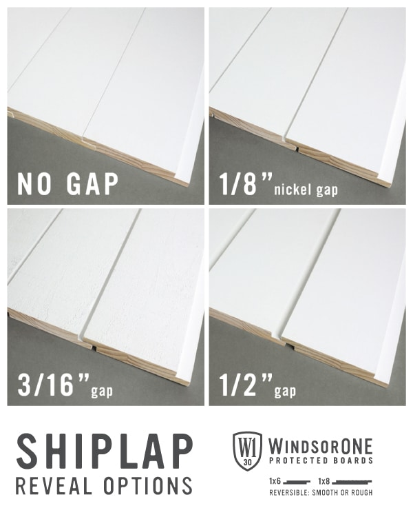 Shiplap Reveal Options