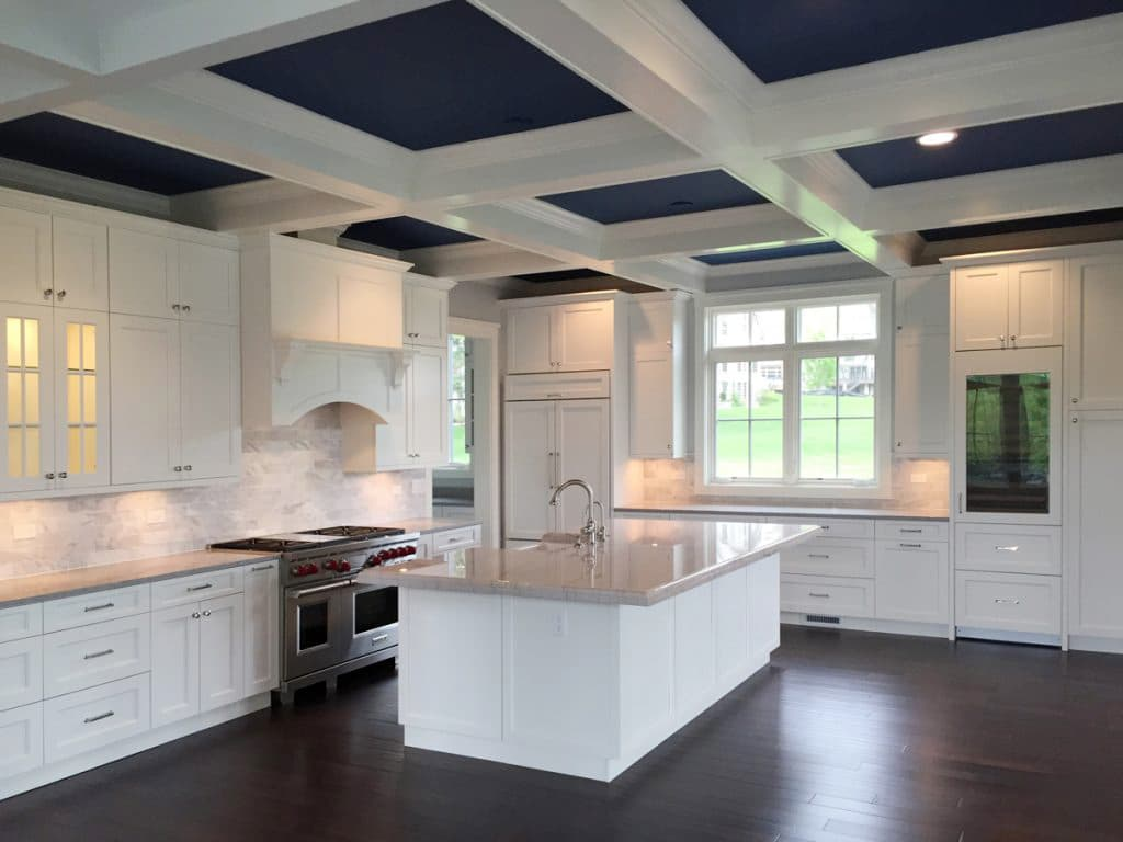 Bold Coffered Ceiling In The Kitchen Windsorone
