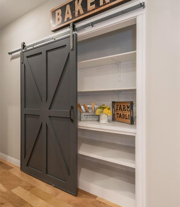 Barn Door Kitchen Pantry - WindsorONE